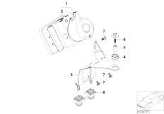 E46 316ti N42 Compact / Brakes/  Asc Hydro Unit Control Unit Support-2