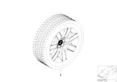 E38 750iL M73N Sedan / Wheels/  Star Spoke 70 Complete Winter Wheel