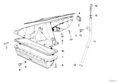 E30 318is M42 2 doors / Engine/  Oil Pan And Dip Stick