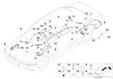 E38 740iL M62 Sedan / Vehicle Trim/  Heat Insulation
