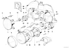 E32 740i M60 Sedan / Lighting Single Components For Headlight