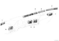 E21 316 M10 Sedan / Heater And Air Conditioning/  Fresh Air Grille