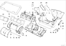 E34 540i M60 Touring / Heater And Air Conditioning Housing Parts Automatic Air Conditioning