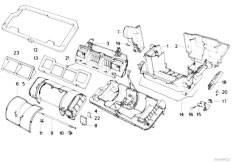 E34 540i M60 Touring / Heater And Air Conditioning Housing Parts Heater Microf Instrument