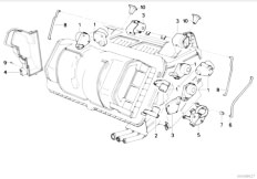 E34 540i M60 Touring / Heater And Air Conditioning Actuator Air Conditioning