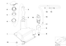 E46 316ti N42 Compact / Vehicle Electrical System/  Single Parts For Rear Window Cleaning
