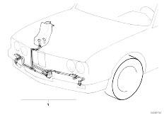 E39 520i M52 Sedan / Vehicle Electrical System/  Retrofit Kit Headlight Cleaning System-2