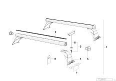 E46 330xd M57 Sedan / Universal Accessories Rack Support