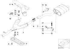 E39 528i M52 Sedan / Exhaust System/  Exhaust System Rear