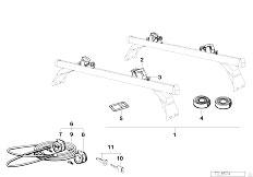 E30 318i M40 Cabrio / Universal Accessories Surfboard Rack-2