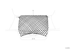 E65 730i M54 Sedan / Vehicle Trim Boot Trunk Floor Net