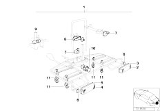 E30 318i M40 Cabrio / Universal Accessories Bicycle Rack Trailer Hitch-2