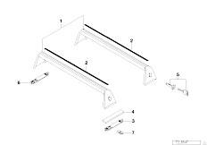E30 318i M40 Cabrio / Universal Accessories Rack Support