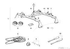 E30 318i M40 Cabrio / Universal Accessories Surfboard Rack