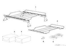 E38 750iLS M73 Sedan / Universal Accessories Luggage Basket