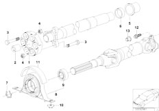 E46 330xd M57 Sedan / Drive Shaft Drive Shaft Single Components 4 Wheel