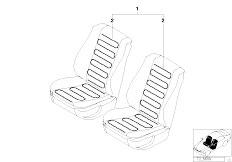 E30 325i M20 Cabrio / Seats Installing Set Heated Seat Front
