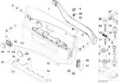 E65 730i M54 Sedan / Vehicle Trim Door Trim Panel Front Side Airbag