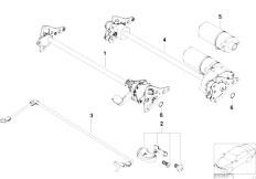 E46 M3 CSL S54 Coupe / Seats Seat Tilt Adjustment Individual Parts