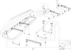 E46 330xd M57 Sedan / Universal Accessories Multi Purpose Roof Box