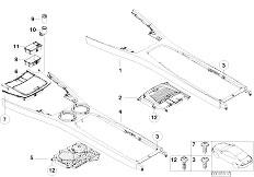 E65 730i M54 Sedan / Vehicle Trim Centre Console Bottom Storage Drink Hold