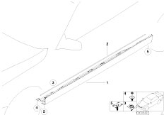 E38 740iL M62 Sedan / Vehicle Trim/  Cover Sill