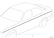 E34 525td M51 Sedan / Vehicle Trim Ornamental Strips Universell